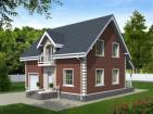 Проект индивидуального одноэтажного жилого дома с мансардой